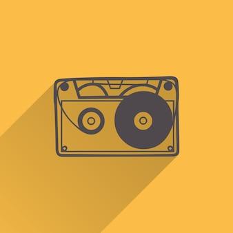 Kassettensymbolillustration, musikmuster. kreatives und luxuriöses cover