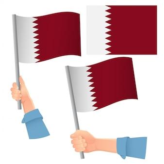 Katar flagge im handset
