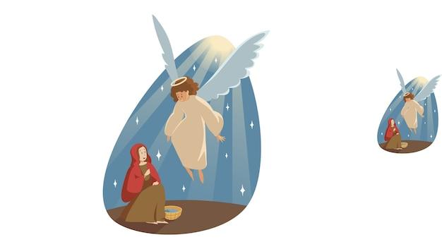 Katholische orthodoxe feiertagsillustration