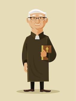 Katholischer priester isolierter charakter