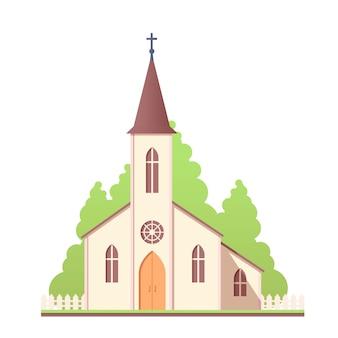 Katholisches design der heiligen kirche