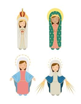 Katholisches religionsdesign, grafik der vektorillustration eps10