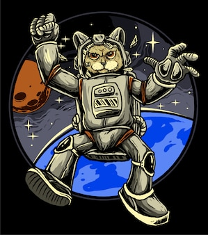 Katze-astronaut