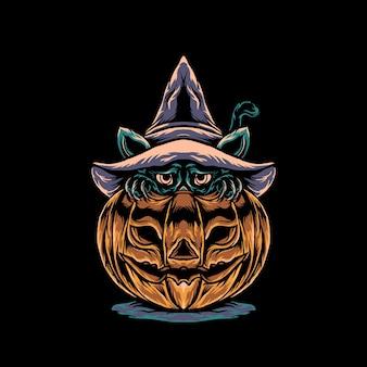 Katze halloween illustration