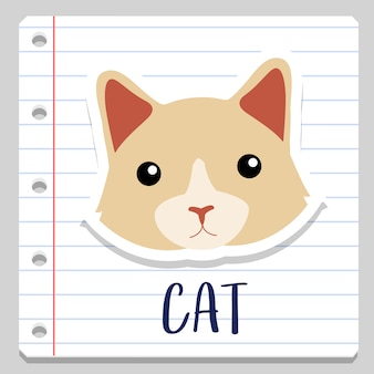 Katze home tier notebook clipart