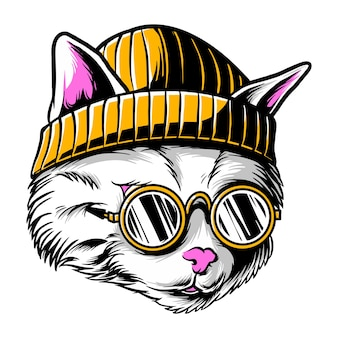 Katze lustige coole katze