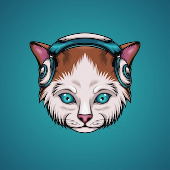 Katze musik hören