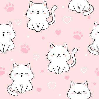 Katze nahtlose muster hintergrund