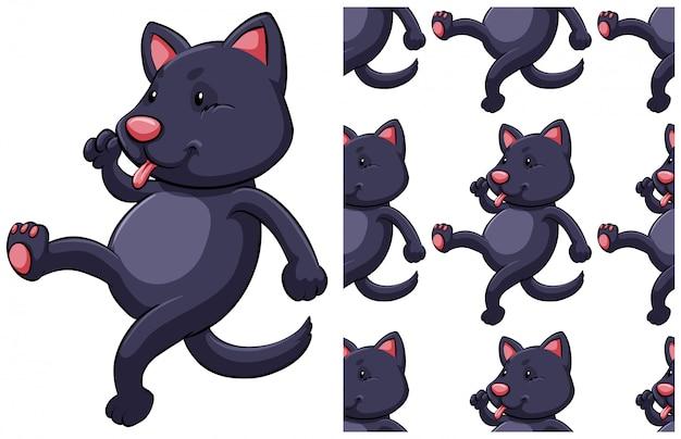 Katze nahtlose muster isoliert auf weiss