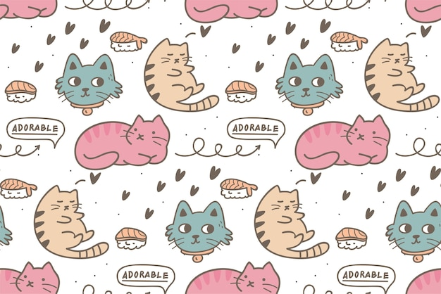 Katze nahtloses muster