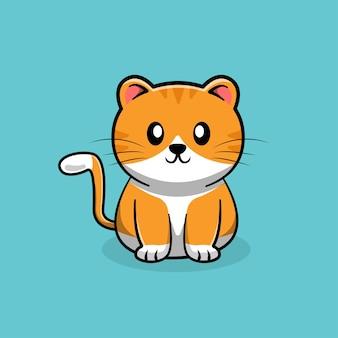 Katze niedlichen cartoon.