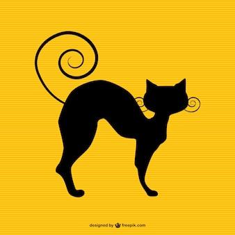 Katze silhouette vektor-kunst-kostenlos