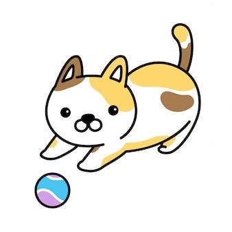 Katze vektor kaliko kätzchen cartoon