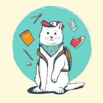 Katze zurück in die schule