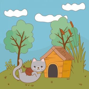 Katzen-cartoon-clipart-illustration