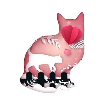 Katzen-illustration