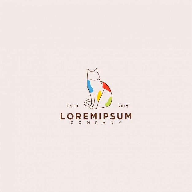 Katzen-logo-vorlage
