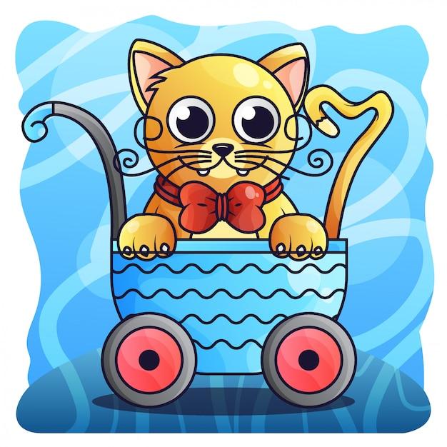 Katzen-steigungs-illustrations-vektor