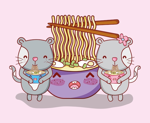 Katzen und sushi kawaii