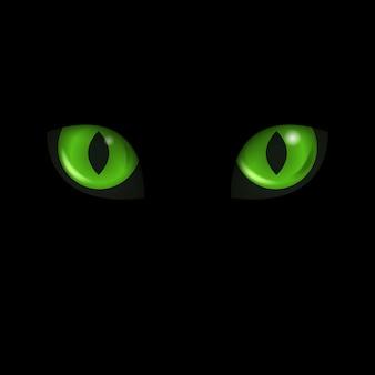 Katzenaugen. schwarze katze.