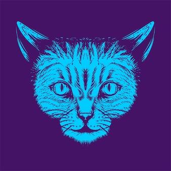 Katzengesichtsgrafikillustration