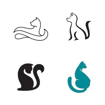 Katzenikonendesignvektorillustrations-designschablone