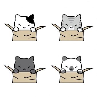 Katzenkätzchen-haustierkasten der katze vektor