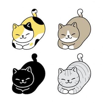 Katzenkätzchenkarikaturillustration