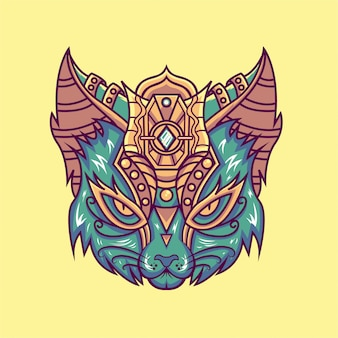 Katzenkopf illustration