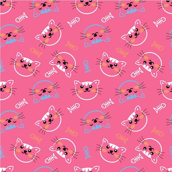 Katzenkopf mit den offenen und geschlossenen augen im rosa hintergrund
