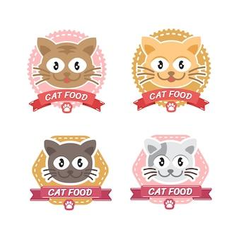 Katzenlogo-design-set für tierhandlung