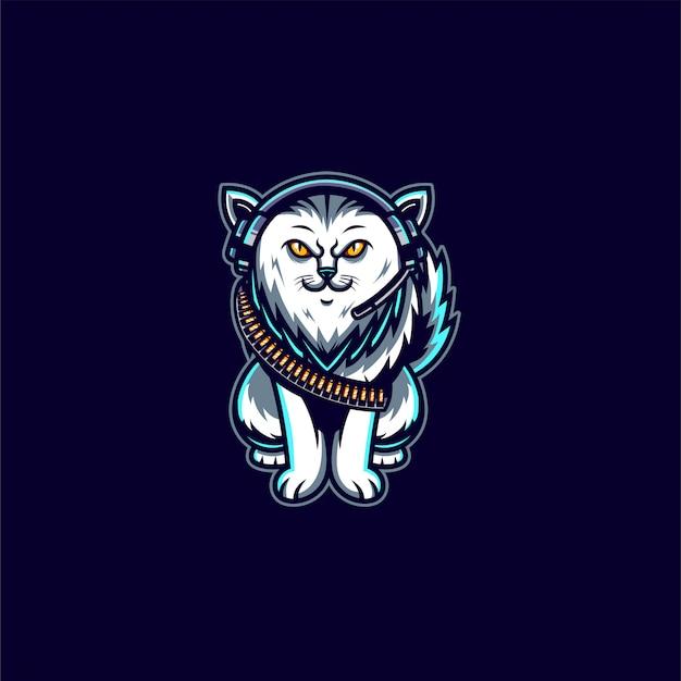 Katzenmaskottchen-charakterillustration