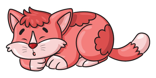 Katzenschlafkarikatur