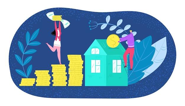 Kauf eines hauses, investition in ein neues haus oder zahlung von wohnraum