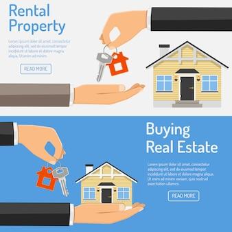 Kauf und vermietung von immobilienbannern
