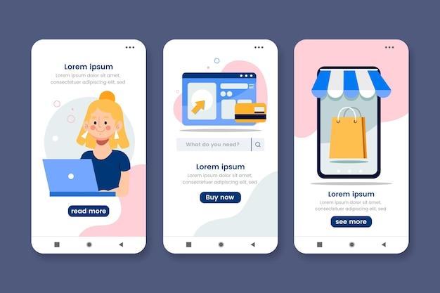 Kaufen sie eine online-konzept-app-vorlage