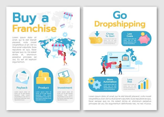 Kaufen sie franchise-broschürenvorlage