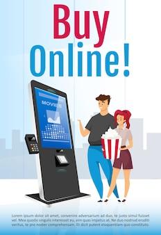 Kaufen sie online broschüre vorlage illustration