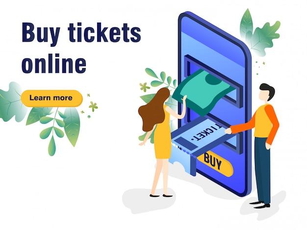 Kaufen sie tickets im internet mit einem mobiltelefon, terminkalender-tickets werden über das telefon gedruckt