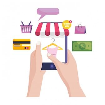 Kaufende on-line-ikonenabbildung
