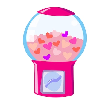 Kaugummiautomat mit herzen romantischer automat mit herzen