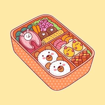 Kawaii bento asiatische japanische lunchbox