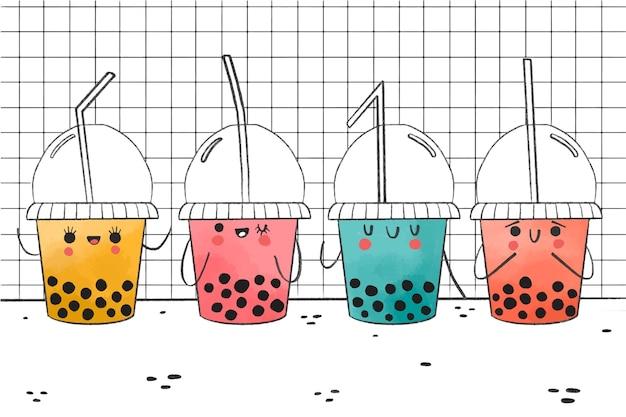 Kawaii bubble tea pack