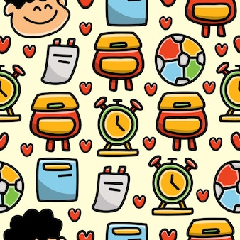 Kawaii cartoon doodle nahtloses muster design