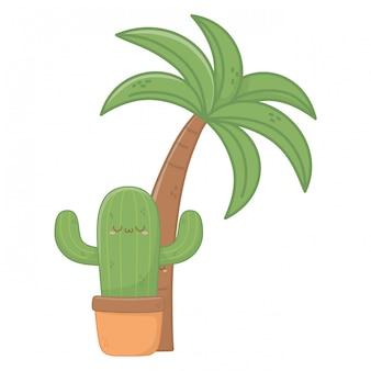 Kawaii der kaktuskarikatur