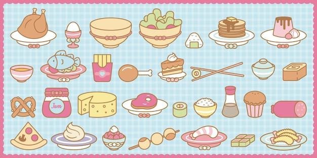 Kawaii food set