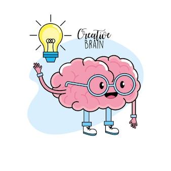 Kawaii geistige gesundheit zum kreativen prozessdesign