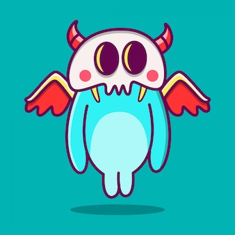 Kawaii gekritzel cartoon monster illustration