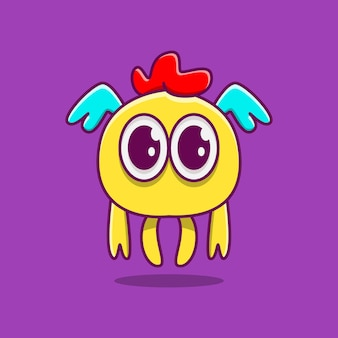 Kawaii gekritzel monster cartoon design