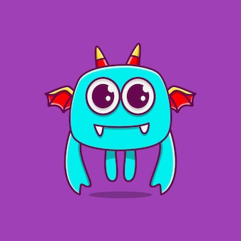 Kawaii gekritzel monster cartoon illustration
